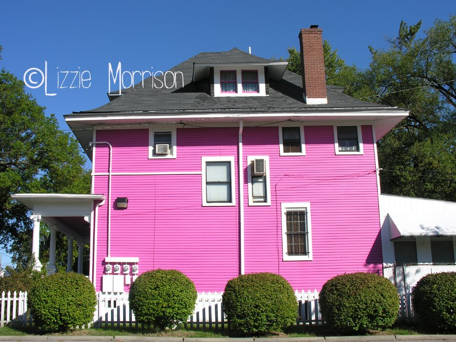 Very pink house on Broadway