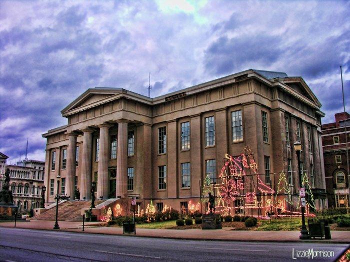 Louisville Metro Hall Lights