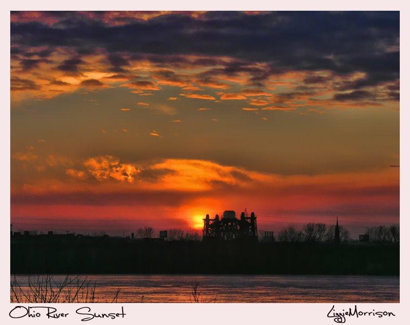 Louisville Kentucky Ohio River Sunset